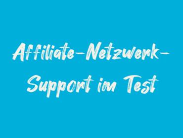Titelbild Affiliate-Netzwerk-Support im Test