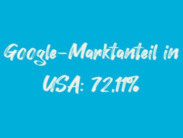 Titelbild Google-Marktanteil in USA 72,11%