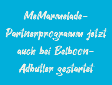 Titelbild MeMarmelade-Partnerprogramm jetzt auch bei Belboon-Adbutler gestartet