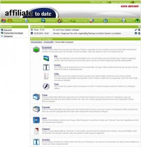 Werbemittel affiliate to date