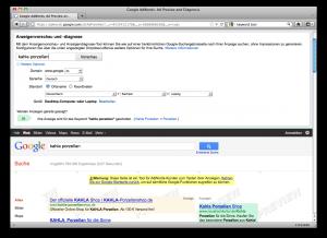 Screenshot des Anzeigenvorschau Tools
