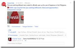 cocacola googleplus