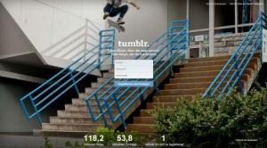 Startseite von Tumblr