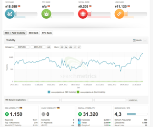Performance Anaylse mit Searchmetrics