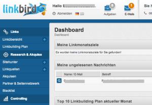 Screenshot linkbird