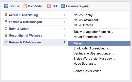 Lebensereignis Facebook