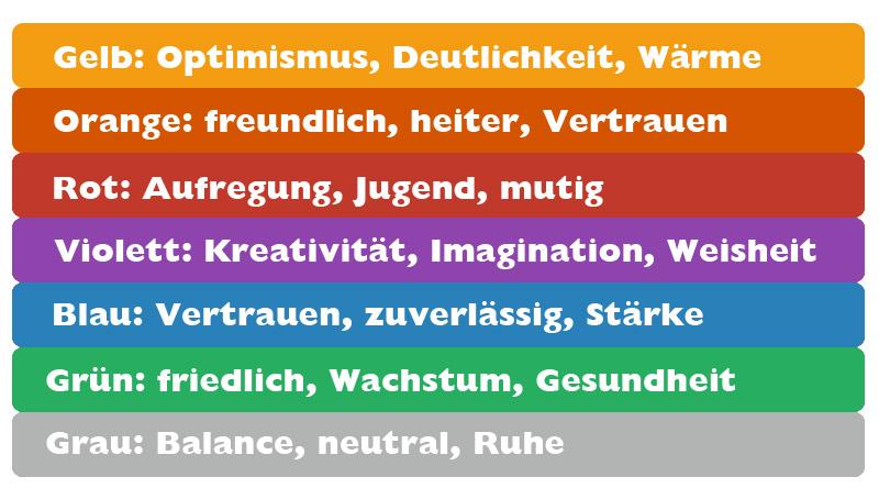 Banner Farbgestaltung