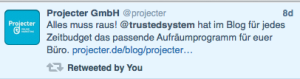 Mentioned by projecter