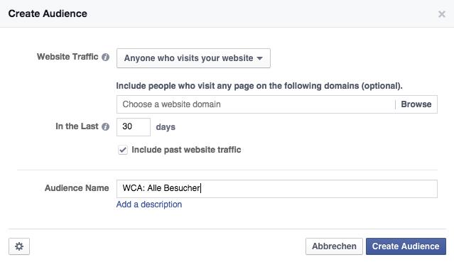 Zielgruppe erstellen Facebook