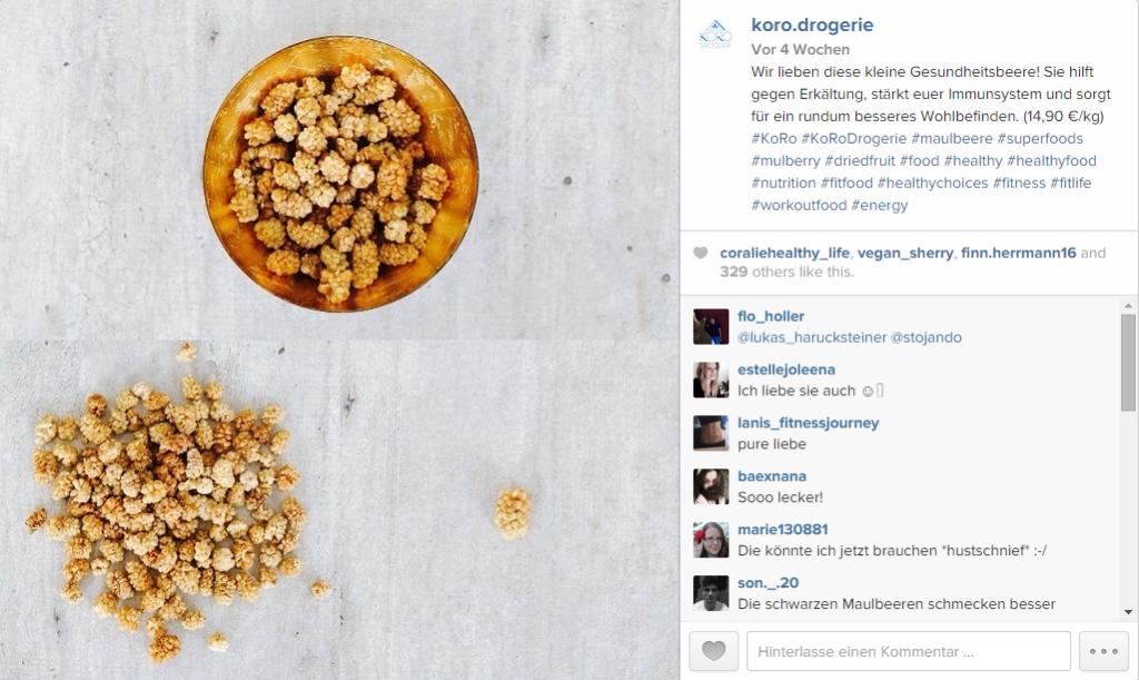 Instagrambild KoRo Drogerie