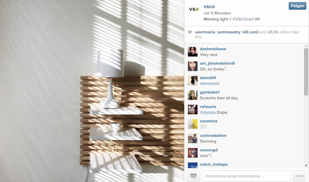 Instagrambild kein Filter