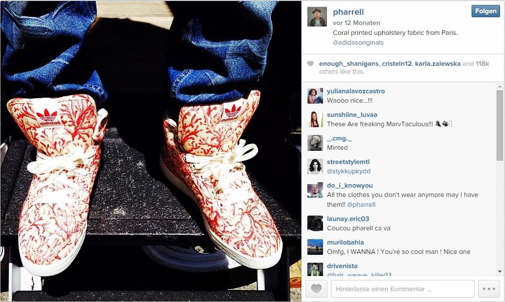 Instagram Adidas + Pharrell Williams