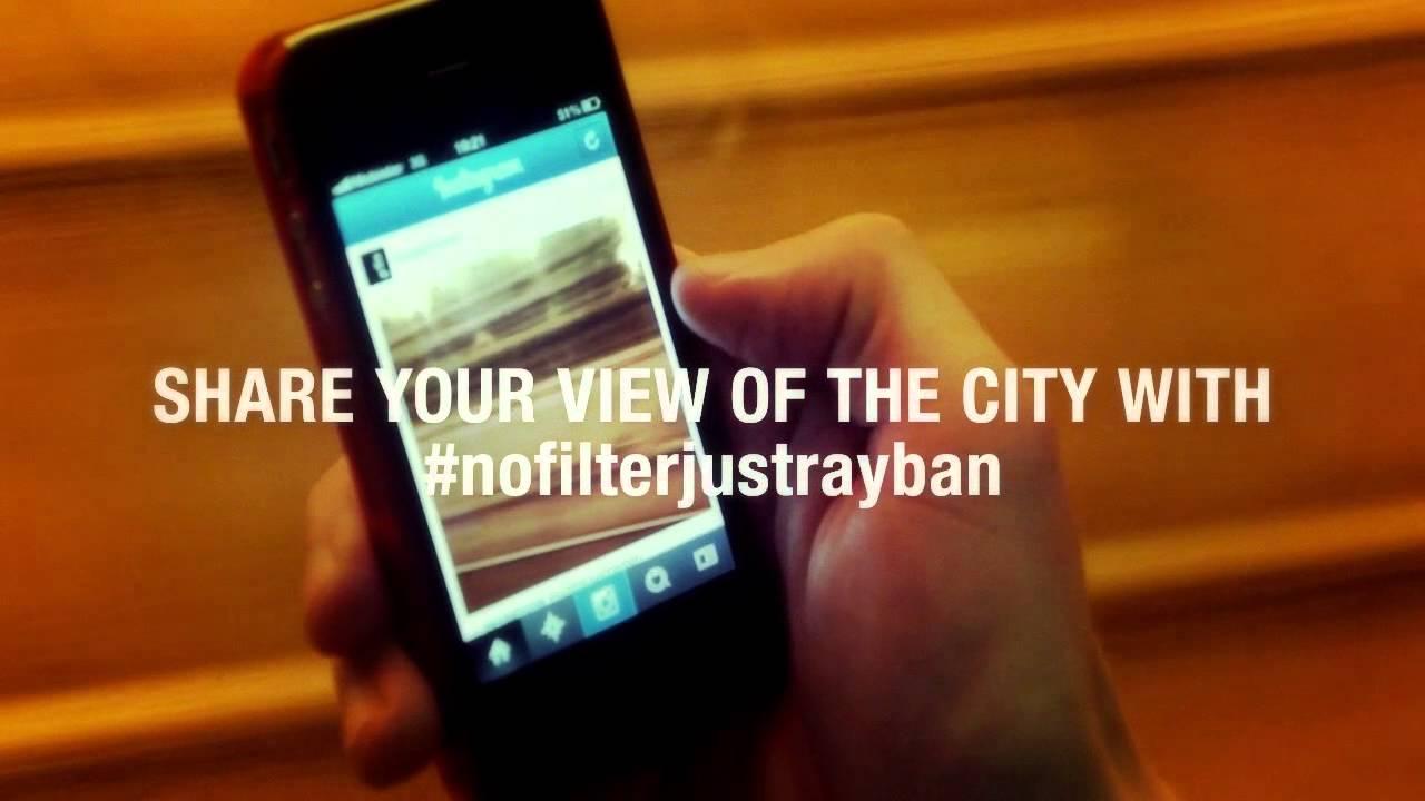 Bild #nofilterjustrayban