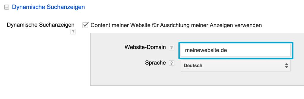 DSA - URL auswälen