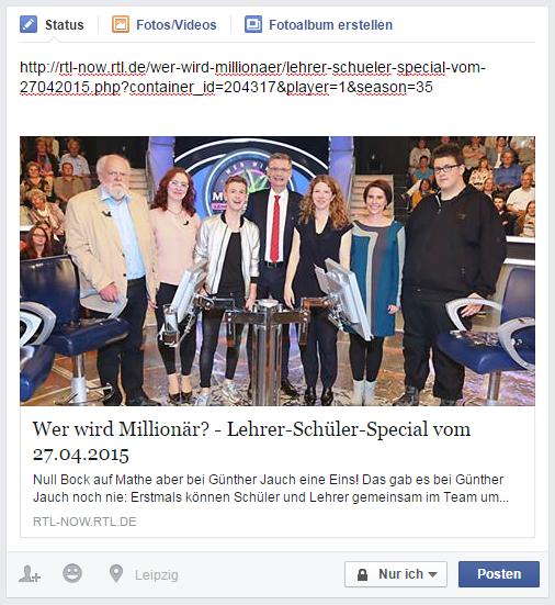 Facebook OG-Tag Beispiel RTL
