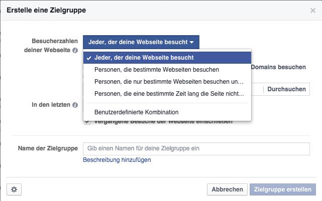 WCA erstellen auf FB