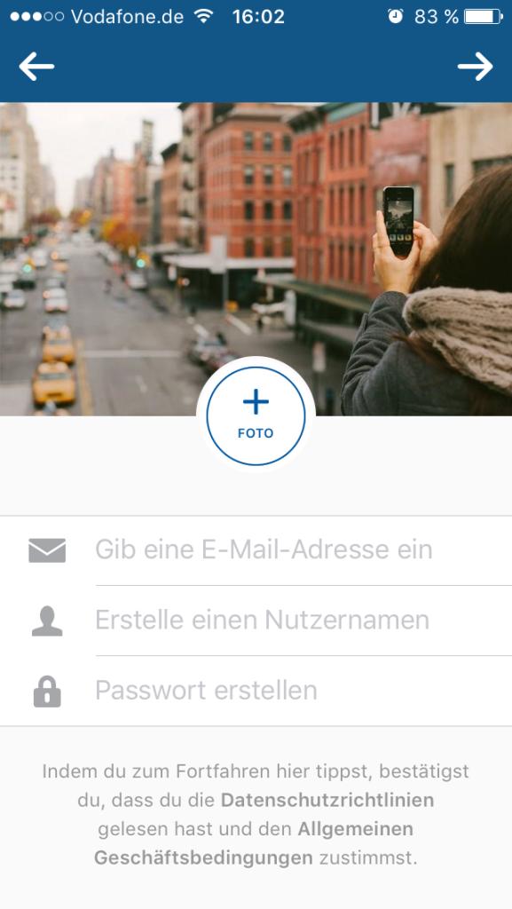 Instagram-Account erstellen