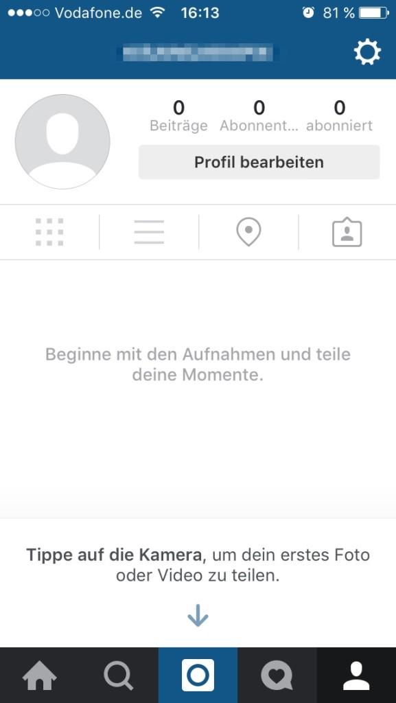 Instagram - Account einrichten