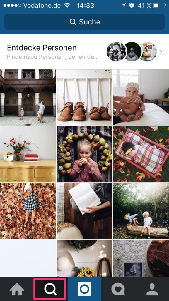 Instagram - anderen Accounts folgen