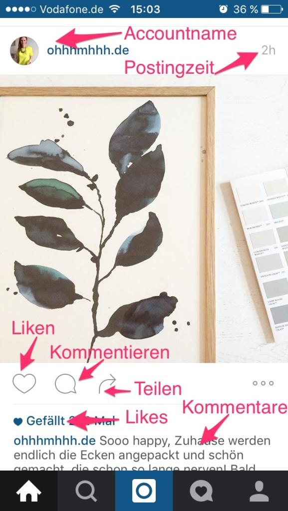 Instagram - Postaufbau
