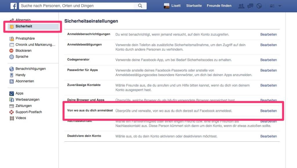 Facebook - Infos Login