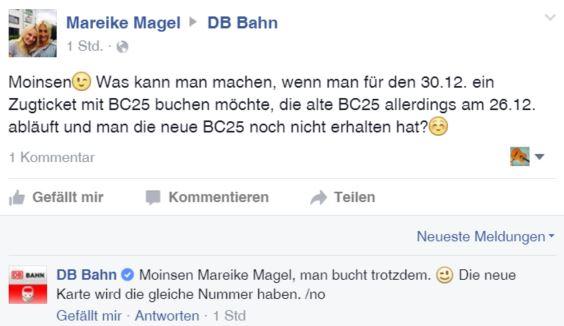 DB Facebook Beispiel