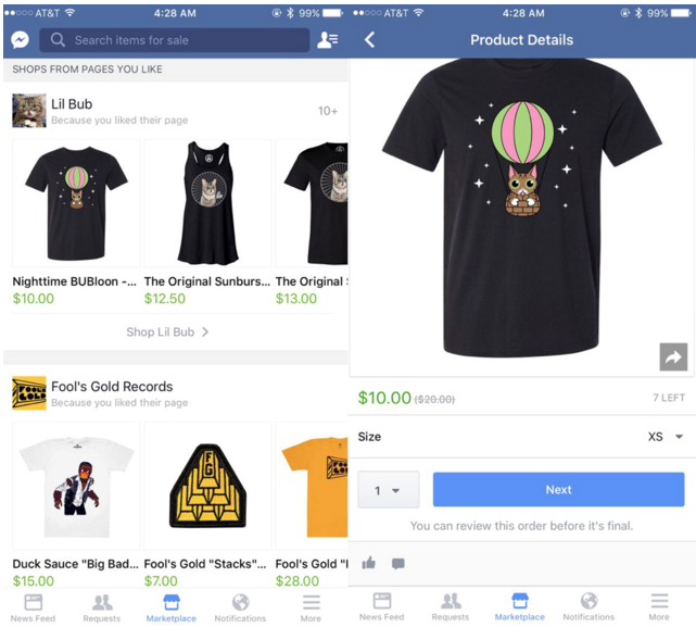 Facebook Marketplace Detail