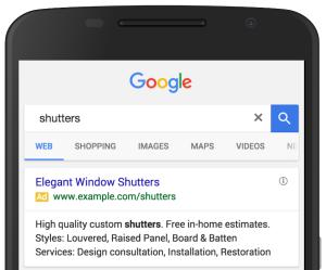 Zwei Structured Snippets in Google Anzeigen