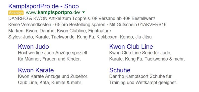 Mehrere Structured Snippets