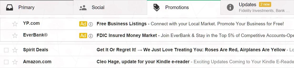 Gmail Ads neues Design