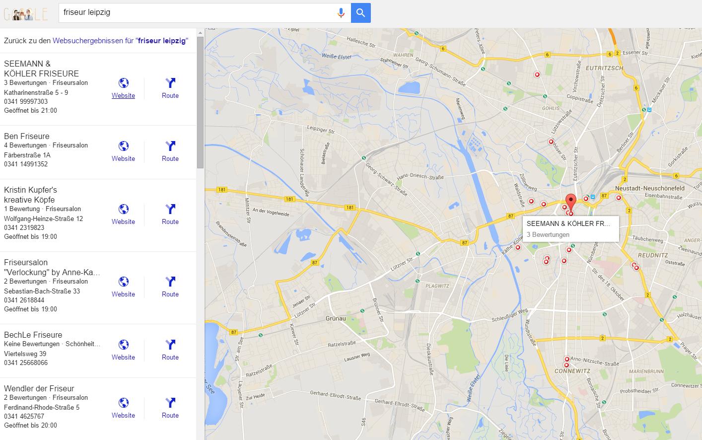 Kartenausschnitt Google Maps
