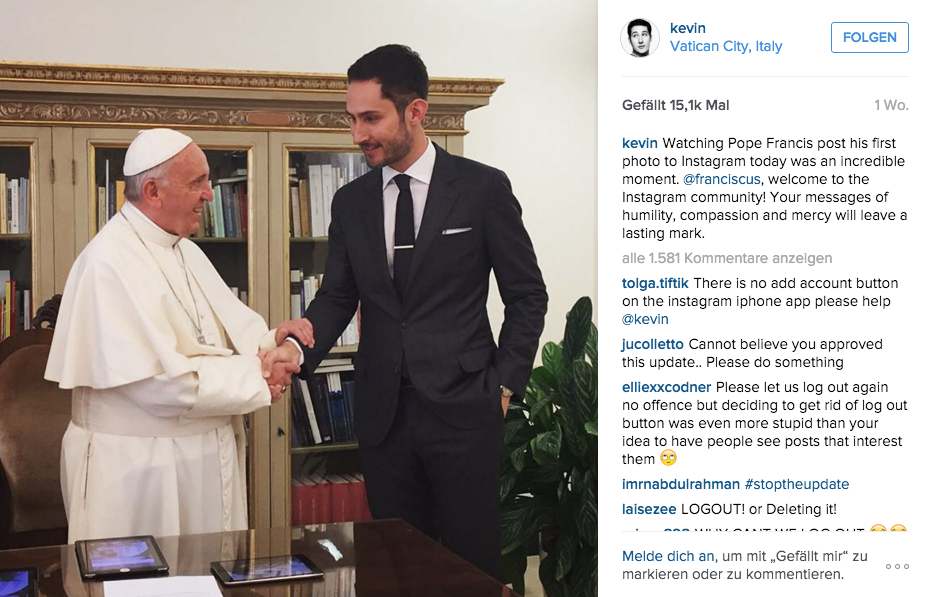 Papst & Kevin Systrom