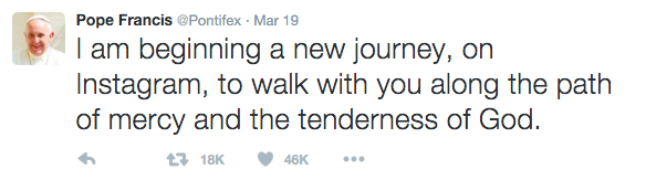 Papst Franziskus Tweet