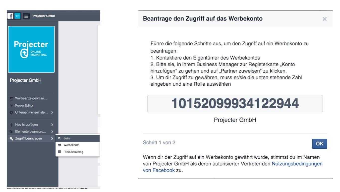 Unternehmens-ID Business Manager