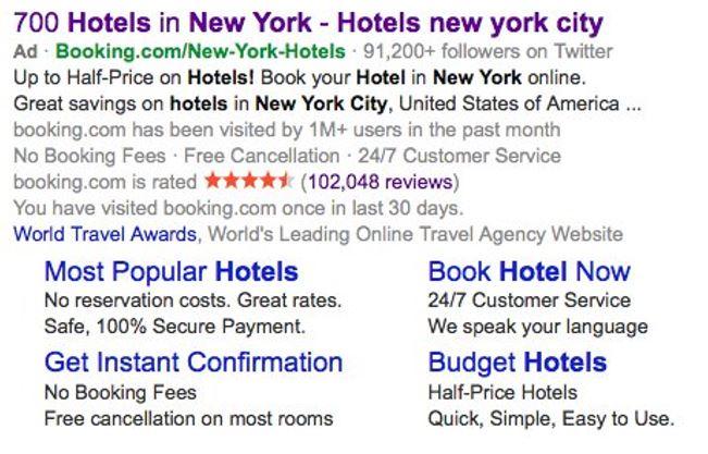 Bing Ads Landing Page Description