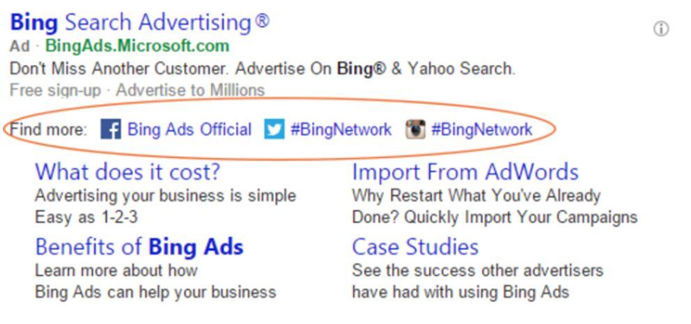 Bing Ads mit sozialen Netzwerken