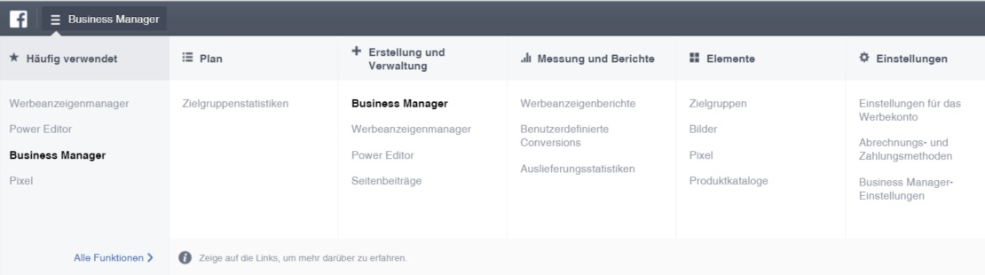Update Business Manager