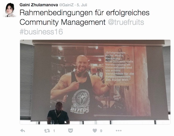 Bsp. Community Management bei true fruits