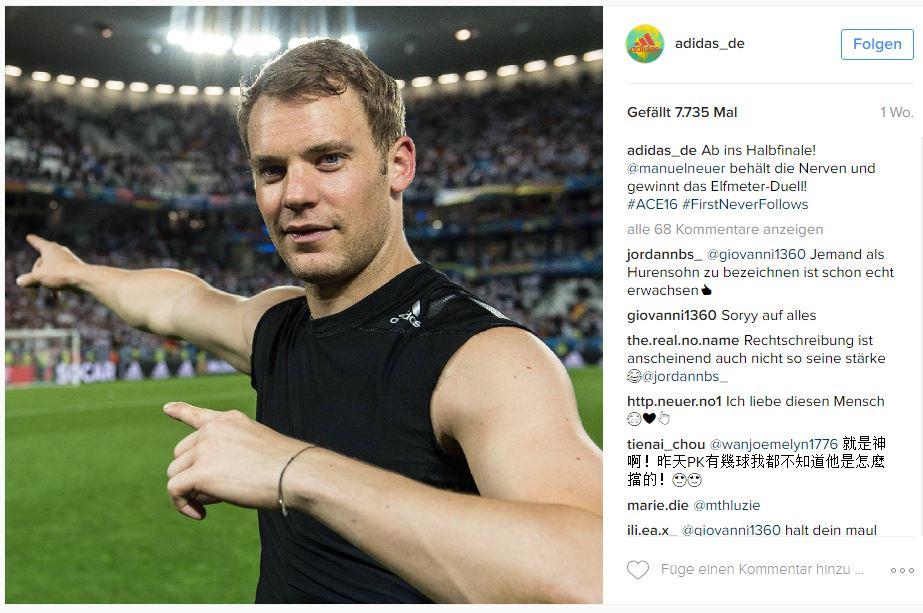 Instagram Adidas Euro 2016