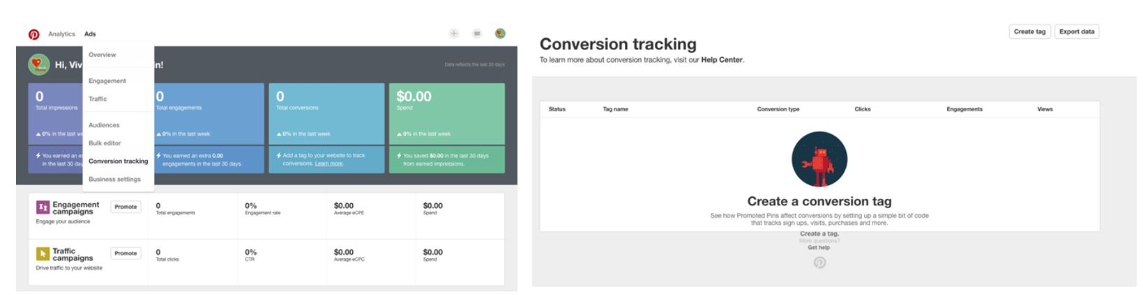 Conversion Tracking Pinterest Ads