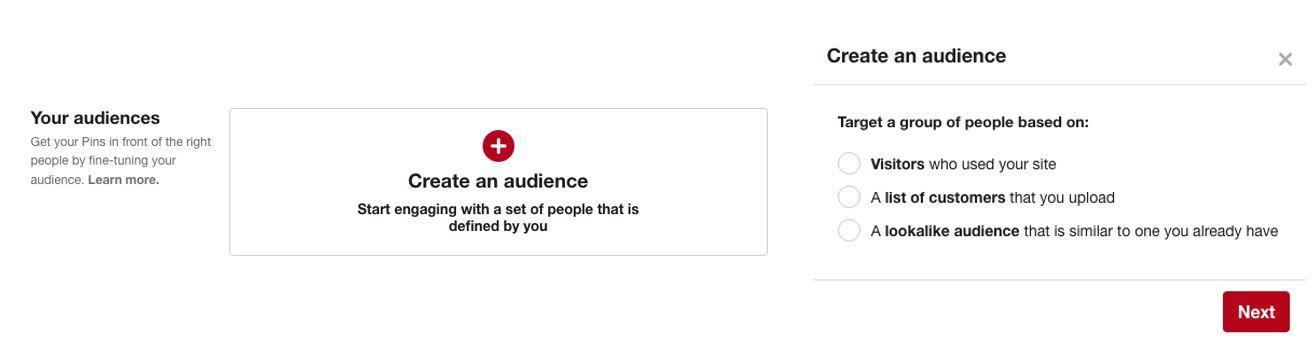 Targeting Pinterest Ads