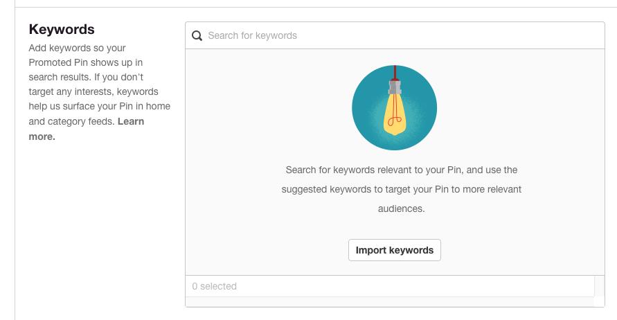 Pinterest Keywords
