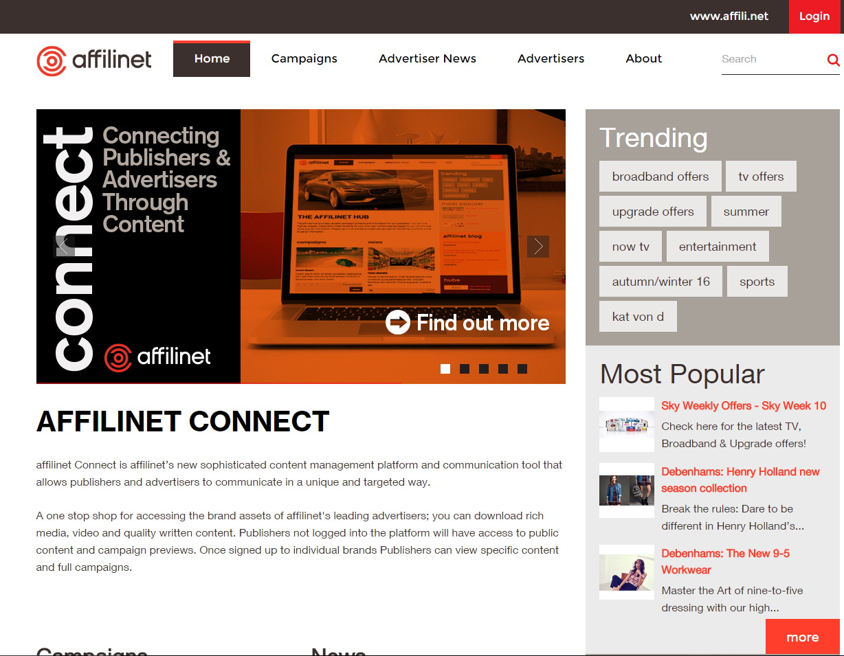 Affilinet Connect in UK gelauncht