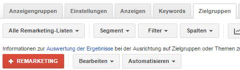 Erstellung einer RLSA Kampagne bei Google AdWords