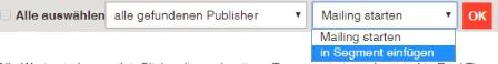 Auf der Suche nach inaktiven Publishern: