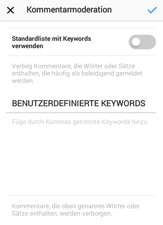 Instagram Kommentarmoderation