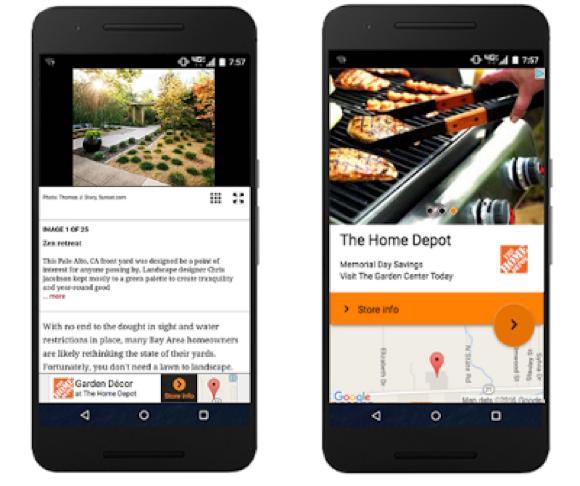 Standorterweiterungen im Google Displaynetzwerk