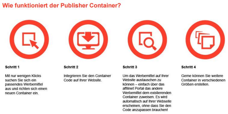 Affilinet Publisher Container jetzt verfügbar