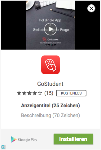 App-Installationsvideoanzeige