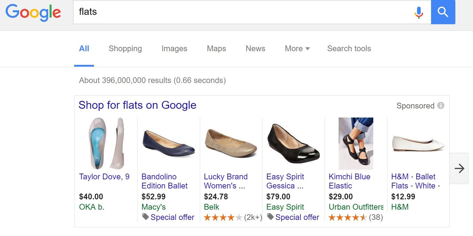 Update bei der Darstellung der Google Shopping Ergebnisse
